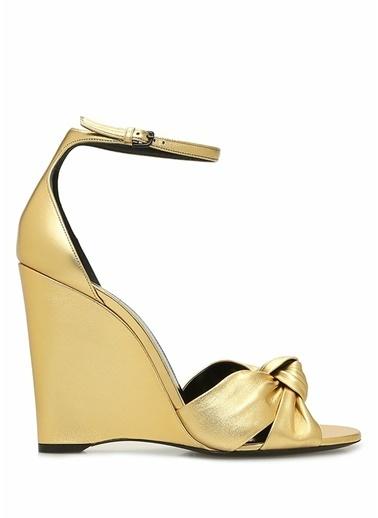 Saint Laurent Sandalet Altın